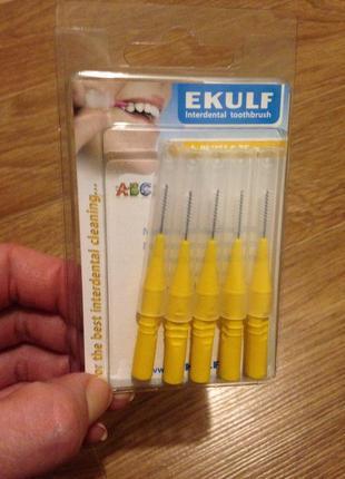 Щетки для межзубных промежутк зубов брекетов 0.75 мм ekulf ph plus ёршики 5шт йоржик зубні