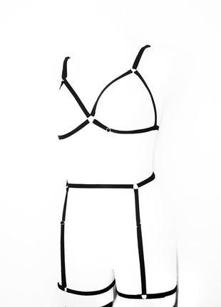 Портупея, контурное белье, гартеры, подвязки, комплект, эротическое белье