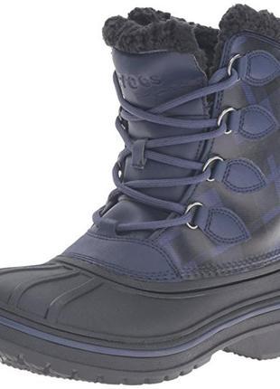 Ботинки зимние crocs allcast ii luxe snow boot раз. 37 и 38