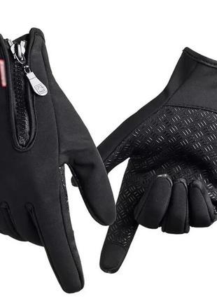 Перчатки зимние флис теплые лыжные спорт сенсорные перчатки