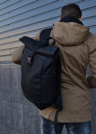 Рюкзак roll top / рюкзак чоловічий - жіночий / рюкзак для ноутбука / рюкзак мужской черный
