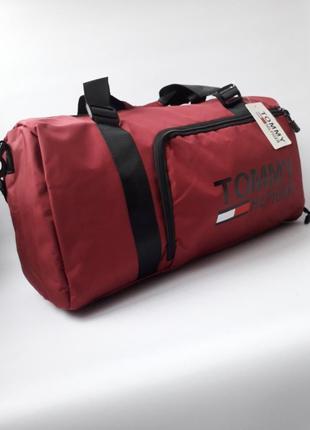 Дорожная, спортивная сумка с отделом для обуви tommy