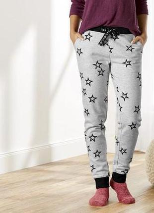 Теплые женские спортивные штаны с начёсом, брюки джоггеры на флисе esmara германия