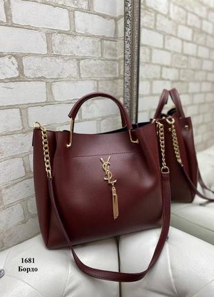Женская сумка бордо
