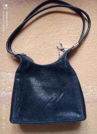 Шикарная винтаж, винтажная сумка кожа натуральная, кожаная италия