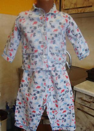 Пижама голубая early days 18-24 м 92 см 100% котон