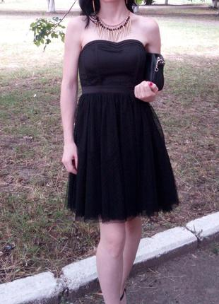 Милое платье от denim co с фатином