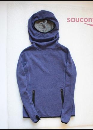 Saucony ridge runner женское худи спортивное для спорта бега тренировок балахон