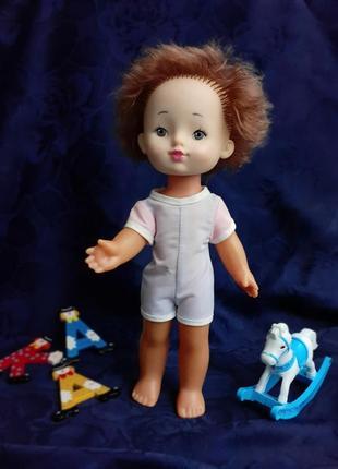 Кукла ссср мальчик редкая советская на резинках днепропетровской фабрики винтаж