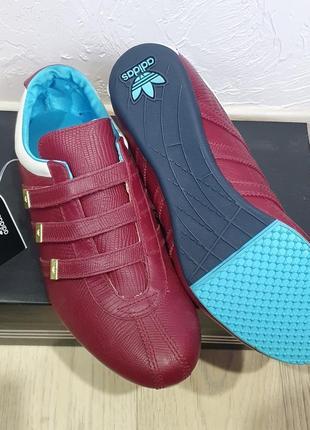 💜 новые стильные фирменные кросовки adidas натуральная кожа, размер 36,5, анатомические