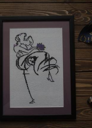 "Картина вышивка крестом ""свадьба"""