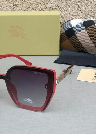 Женские солнцезащитные очки burberry черные с красным градиент