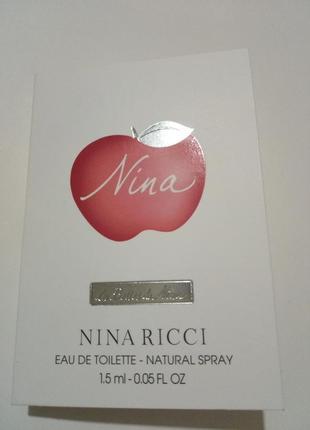 Nina ricci le belles de nina пробник оригинал