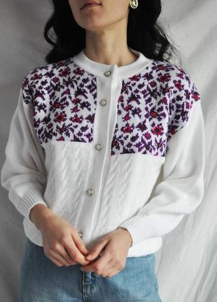 Білий кардиган светер