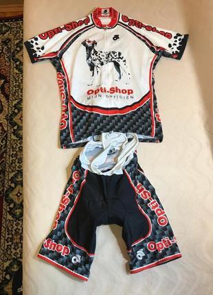 Велосипедная форма (футболка + шорты с лямками и памперсом)