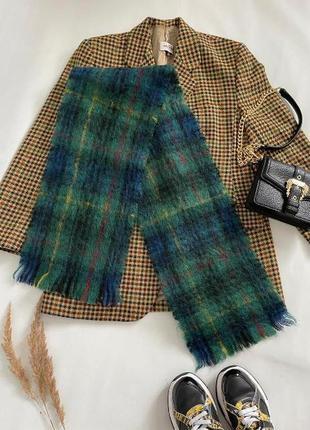 Теплый шарф мохер+шерсть, шотландия
