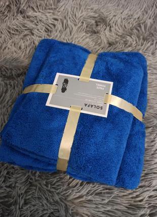 Комплект из 2 полотенец баня + для рук разных цветов
