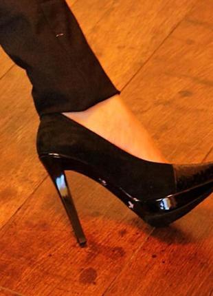 Замшевые туфли georgio vito,италия,кожа и лак,классика