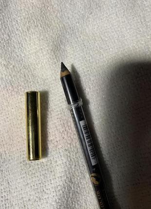 Чёрный карандаш для глаз для бровей мягкий