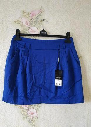 Новая женская юбка # котоновая юбка # синяя женская юбка # papaya