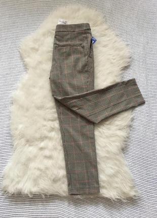 Классные, новые брюки в клетку, next, 8 размер