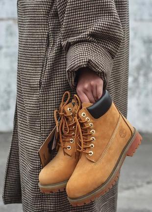 Стильные женские ботинки timberland на меху