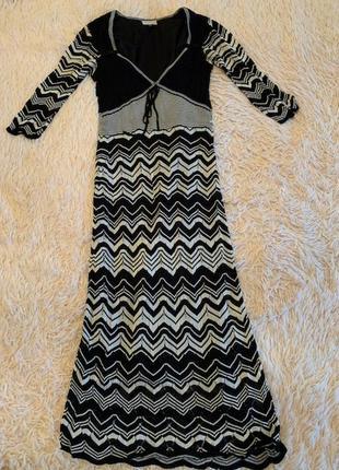 Трикотажное платье от бренда karen millen, оригинал, р-р 1{xs}