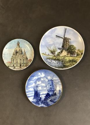 Фарфоровые тарелки декор винтаж