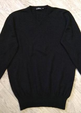 Базовый мужской пуловер шёлк + кашемир