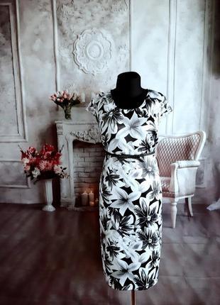 Стильное нарядное платье миди