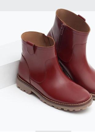 Кожаные ботиночки zara для девочки. размер 29