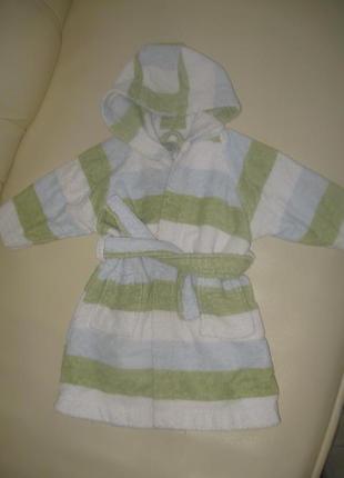 Махровый халат на 2-12мес