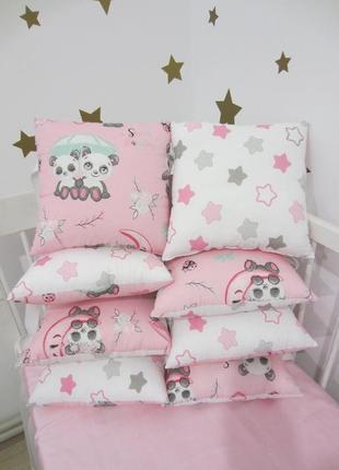 Бортики подушки, захист в ліжечко, защита в кроватку