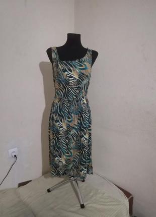 Платье сарафан принт