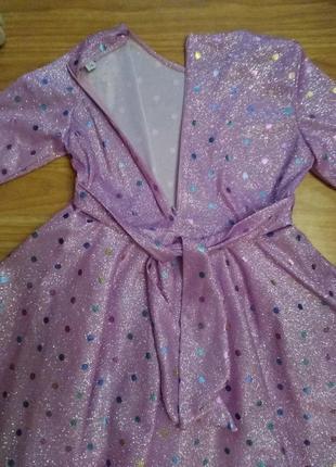 Крутое нарядное платье в блестках2 фото