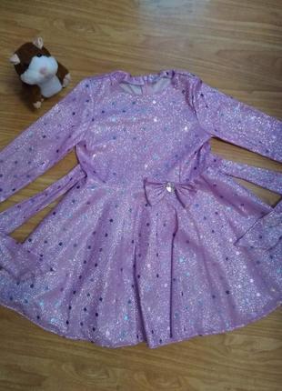Крутое нарядное платье в блестках