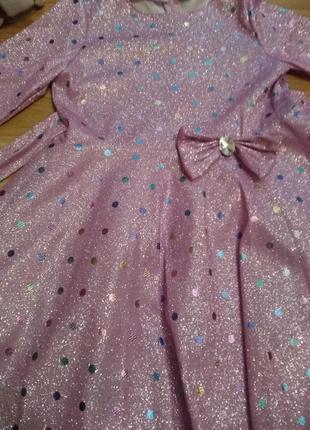 Крутое нарядное платье в блестках4 фото