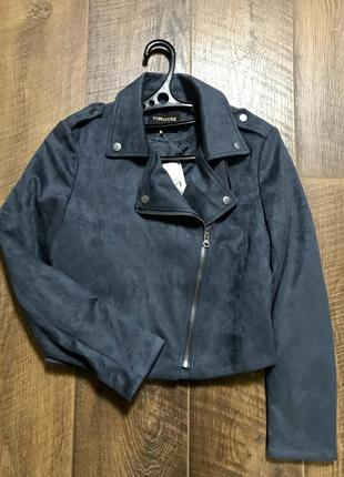 Велюровая курточка косуха xs