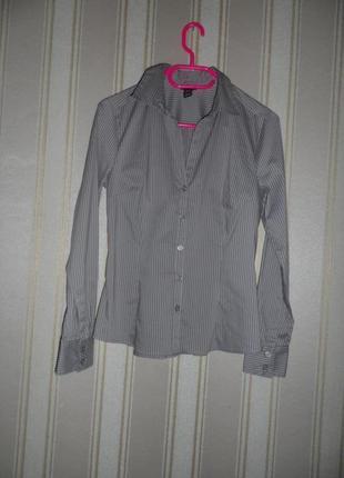 Женская рубашка длинный рукав размер 40 // l
