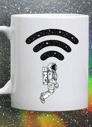 Чашка {хамелеон} с принтом космос