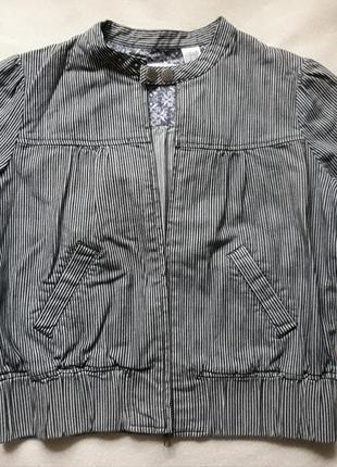 Джинсовая коттоновая куртка джинсовка жакет la redoute xs-s франция