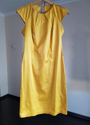 Платье-футляр в оригинальным вырезом на спине