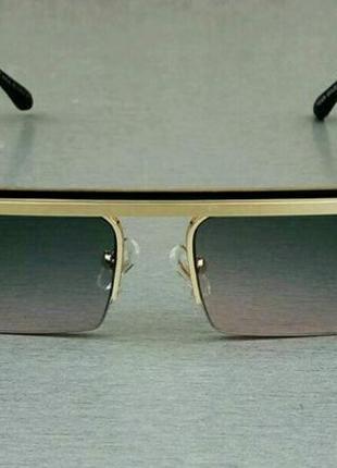 Versace очки женские солнцезащитные узкие стильные с градиентом