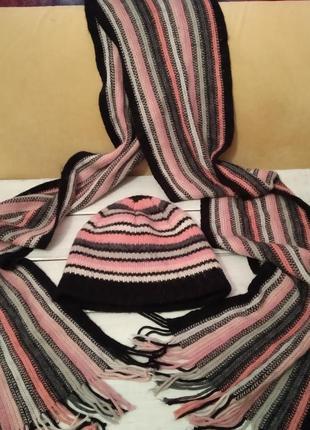 Комлект шапка шарф