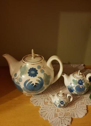 Керамічний набір чайничків