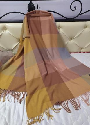 Теплый шарф-плед /палантин cashmere кашемир