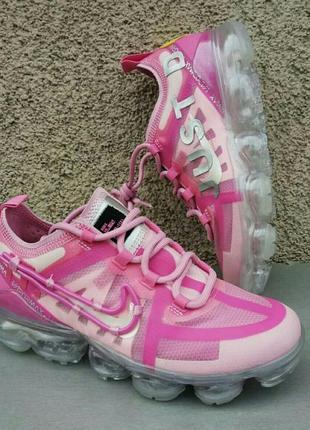 Nike air vapormax кроссовки женские розовые на прозрачной гелевой подошве