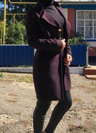 Женское кашемировое трендовое пальто р. s