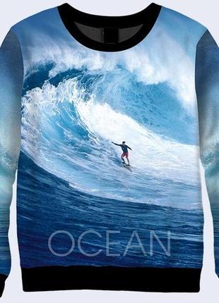 Стильный 3d свитшот ocean surfing