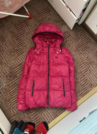 Пуховик курточка adidas адидас фуксия
